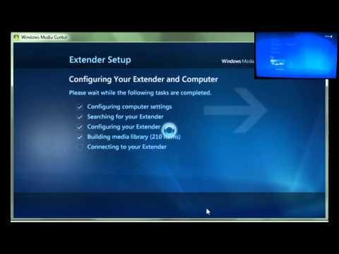 Use Xbox 360 as Windows Media Center Extender