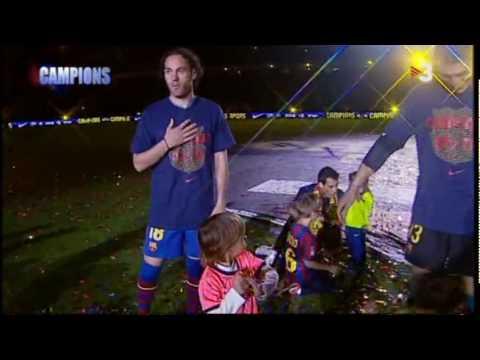 PIQUÉ - Players' speeches 2009 - 2010 Liga celebration [ENGLISH SUBS] thumbnail