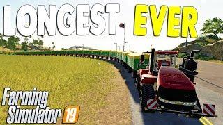 BIGGEST & LONGEST ROAD TRAIN EVER VS. RUNAWAY TRAIN CRASH | Farming Simulator 19 Gameplay