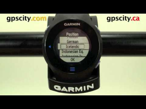 Accessing units in the Garmin Forerunner 610 with GPS City