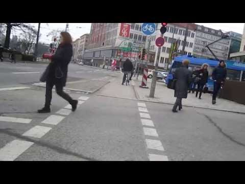 Cycling in Munich : Paul Heyse-Straße From Bayerstraße _ Schwanthalerstraße