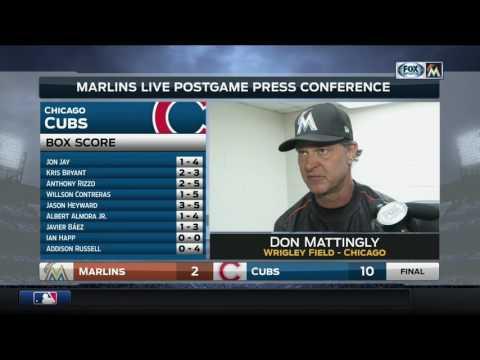 Don Mattingly -- Miami Marlins at Chicago Cubs 06/06/2017