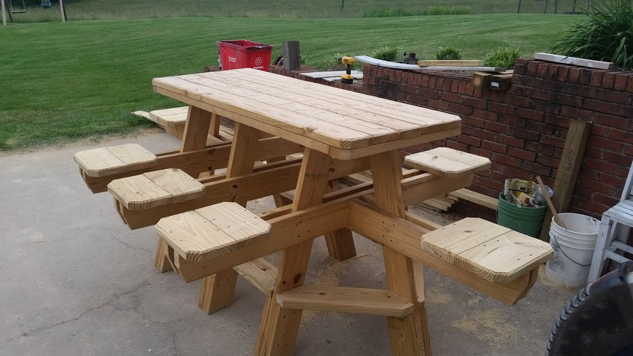How to build an 8 seat bar stool picnic table chapter 2. - YouTube