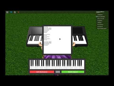 Havana On A Roblox Piano Sheet Music In Desc Youtube