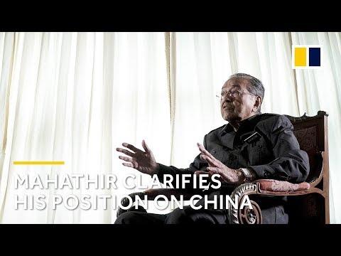 Mahathir clarifies his position on China