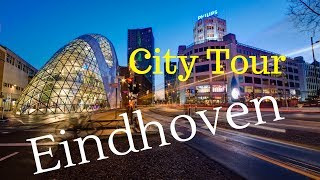 Eindhoven, The Netherlands (City Center Tour) Walking and Cycling.. GoPro