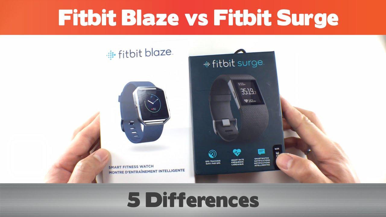 Fitbit Blaze vs Fitbit Surge - 5 differences