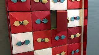 Origami Box Christmas Advent Calendar Decoration