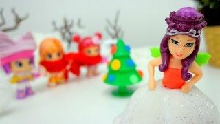 Мультики  для девочек.   Девочки - куколки и Фея украшают елочку!