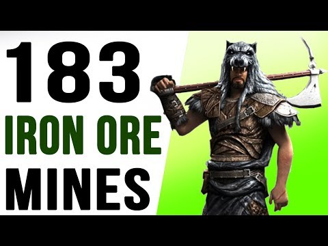 Skyrim All Iron Ore Mines Locations (183 Iron Ore)