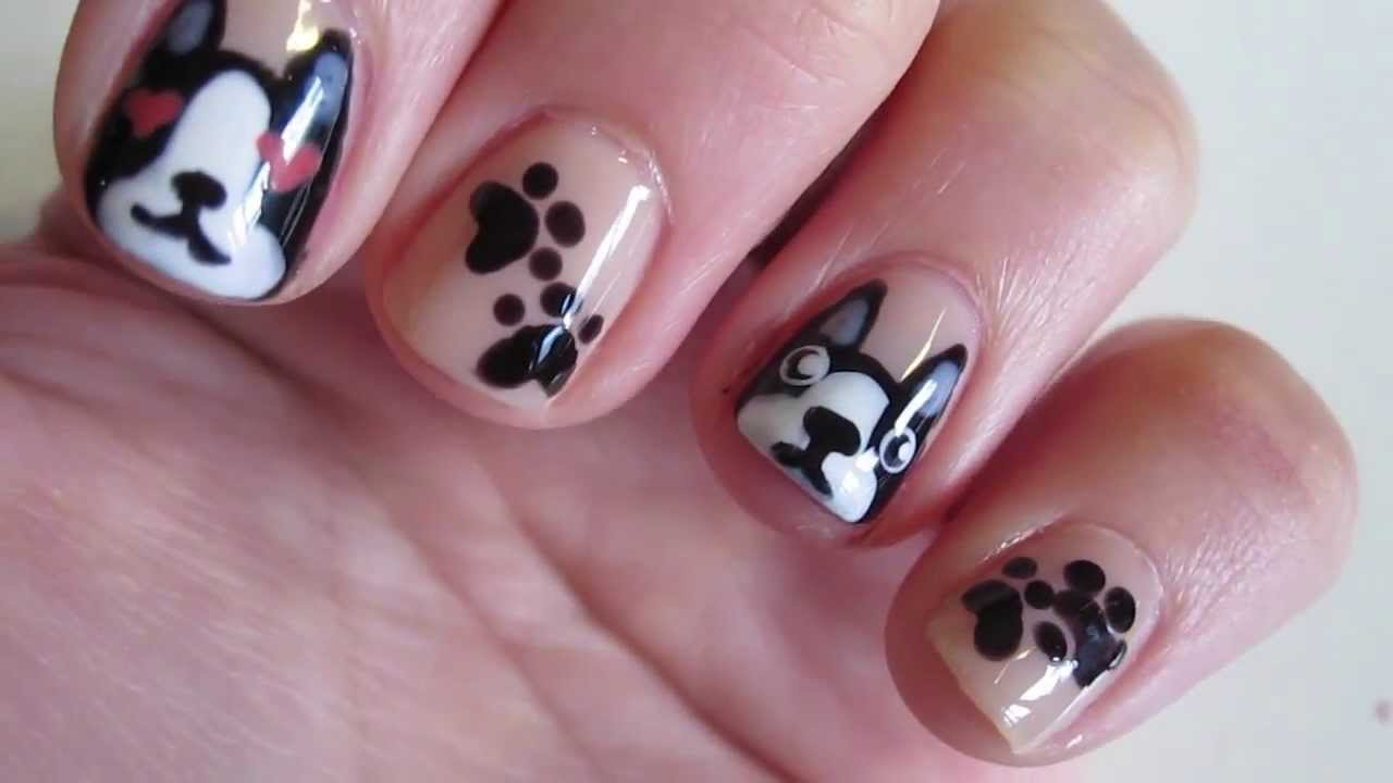 French Bulldog Nails Tutorial | Easy! - YouTube