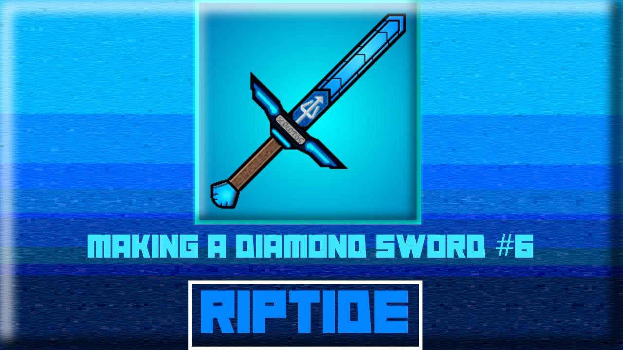 Resource Pack Making a Diamond Sword #8 (#RipTide) [MineCraft PvP