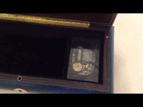 Vintage Musical Jewellery Box with Reuge 18 Note Movement