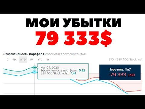 😱📉 Мой убыток 79 333$!😭 Обвал мировых рынков и кризис коронавируса 2020