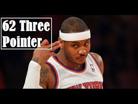 Carmelo Anthony 62 3-Pointer S.2012-13