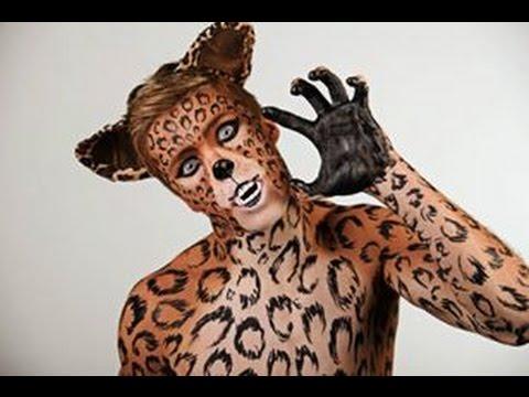 Leon Stefan Dimitrijevic Leopard Body Art By Radule Youtube