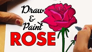 How to draw Rose Step by Step for kids 2018