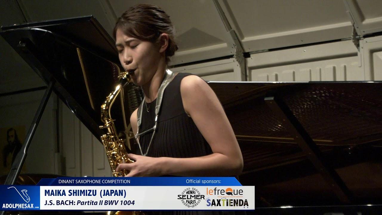 Maika Shimisu (Japan) - Partita II BWV1004 by J.S.Bach (Dinant 2019)
