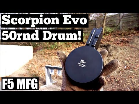 F5 MFG Scorpion Evo 50rnd DRUM Review!!