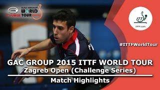 Zagreb Open 2015 Highlights: TAN Ruiwu vs ROBLES Alvaro (1/2)