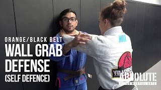 Kids BJJ Orange / Black Belt Self Defense - Wall Grab Defense