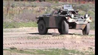 Daimler Ferret Scout Car driving at Tanks For Everything Christchurch