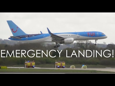 Thomson 757 EMERGENCY LANDING at Manchester Airport | Stuck Flaps | TOM6606