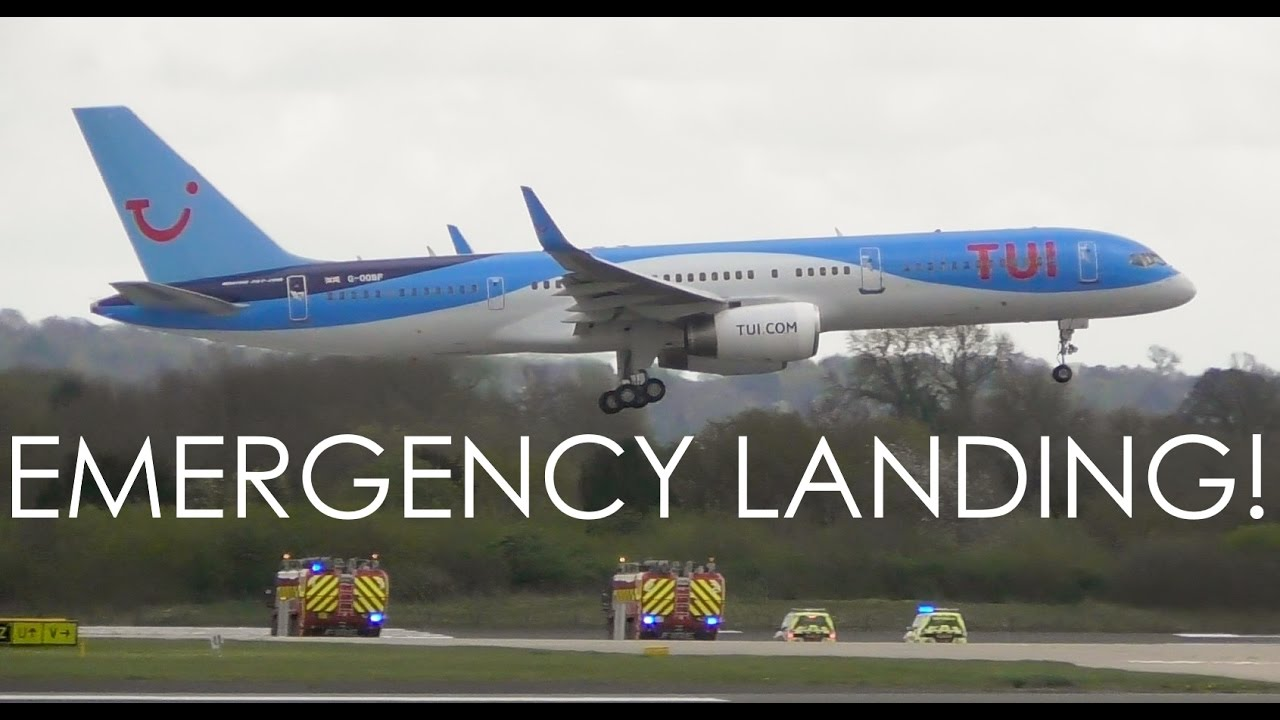 Thomson 757 EMERGENCY LANDING at Manchester Airport