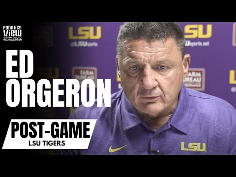 Raw Video Ed Orgeron Goes Nuts As Lsu Arrives For Alabama Game Youtube