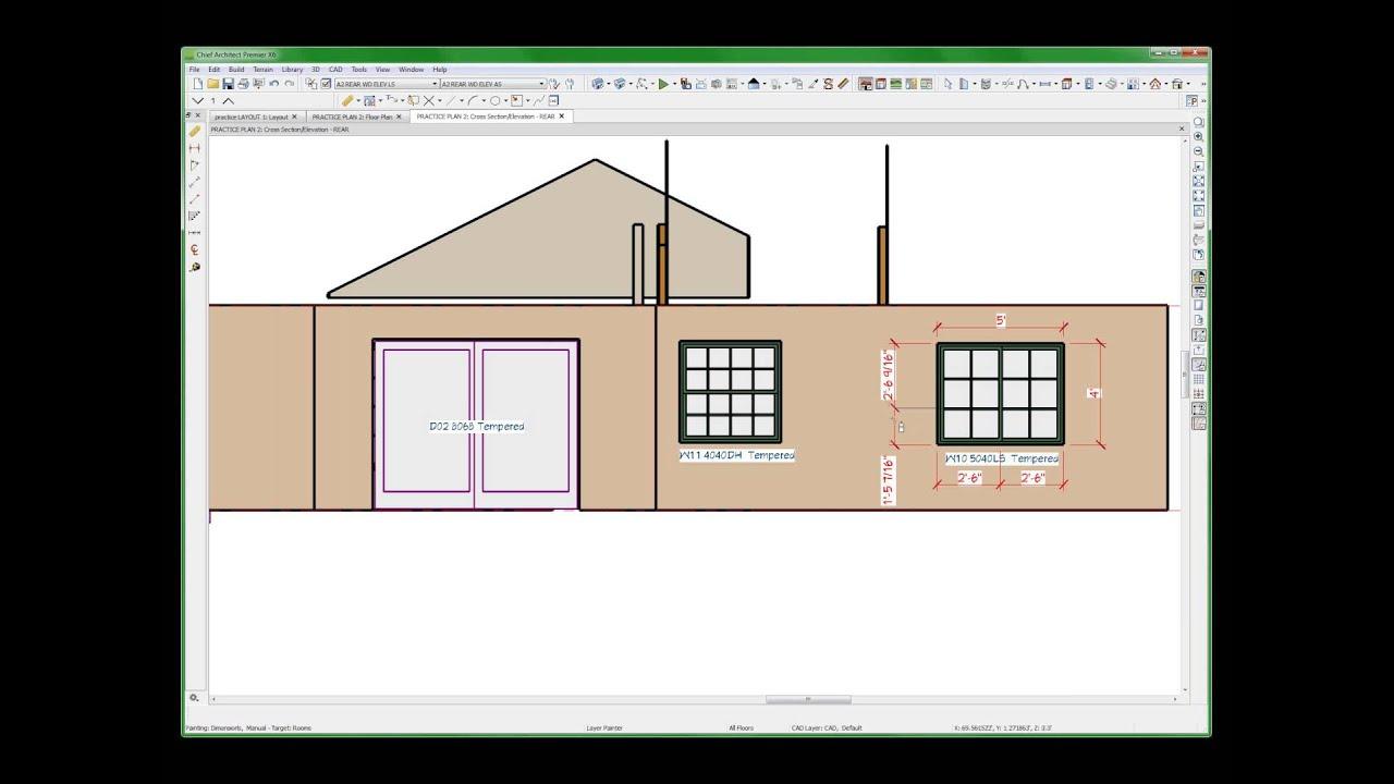 Jpc door window elevation schedules chief architect for Window elevation