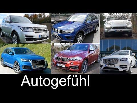 Best FullSize SUV comparison Audi Q7 Volvo XC90 vs BMW X6 Range Rover VW Touareg Porsche Cayenne