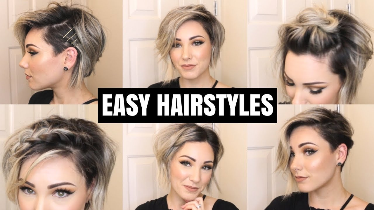 Hair Styles For Brown Hair: EASY HAIRSTYLES FOR SHORT HAIR