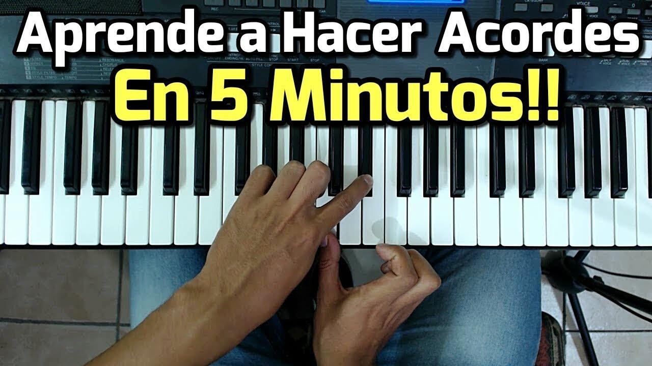 Acordes Como Tocar El Piano Facil Y Rapido Para Principiantes Youtube