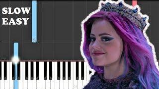 Sarah Jeffery - Queen of Mean (From Descendants 3 ) (SLOW EASY PIANO TUTORIAL)