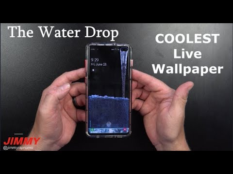 The Water Drop Live Wallpaper Best Live Wallpaper To Date Youtube