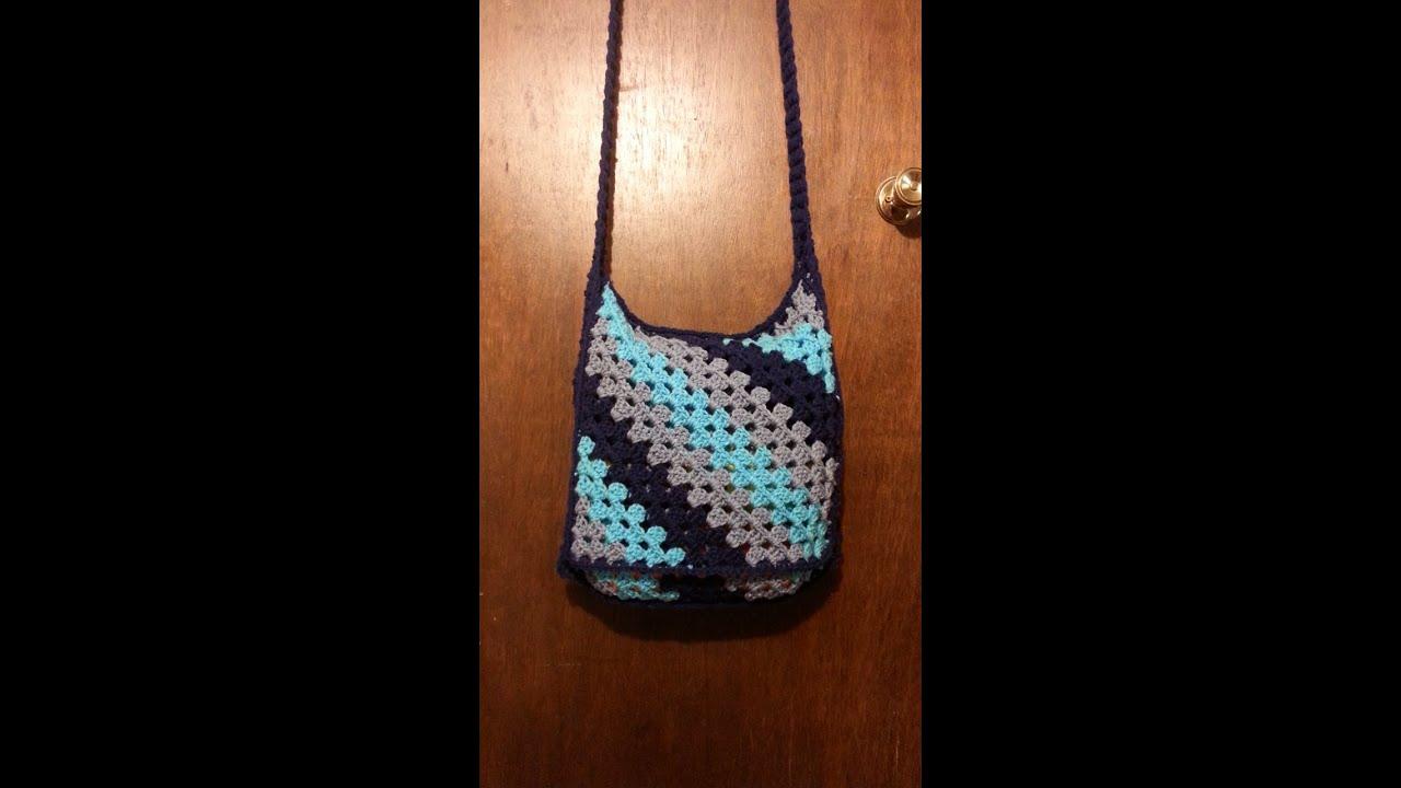 How To Crochet A Bookbag Purse Crochet Satchel
