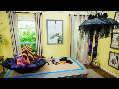 Tanya Memme's DIY Spooky Witch Leg Chandelier
