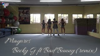 Mayores Becky G ft Bad Bunny (remix) THD100TV Coreografía Zumba Fitness