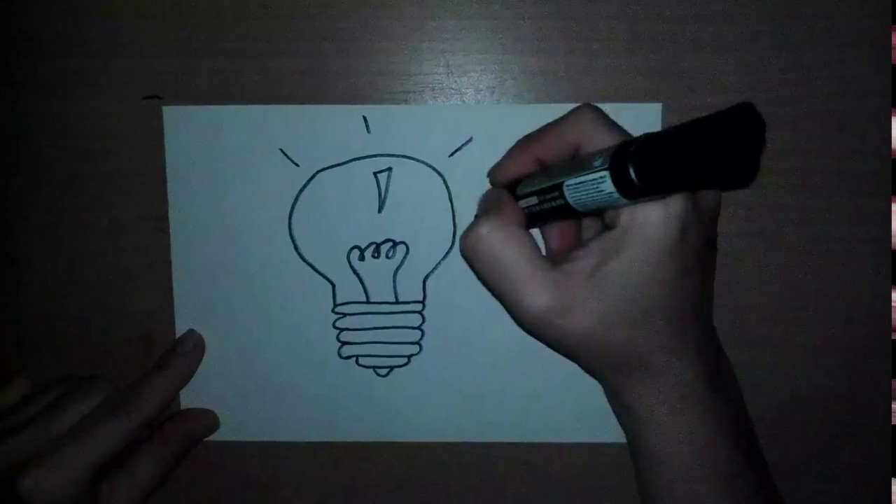 Risuem Lampochku Comment Dessiner Une Ampoule How To Draw A