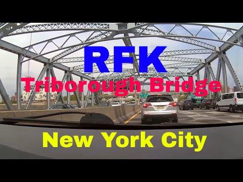 Driving Downtown - RFK - Triborough Bridge - Manhattan - New York City - USA