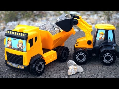 Toy Truck Videos for Children. Tractors for children. Game for Kids. Big trucks for kids