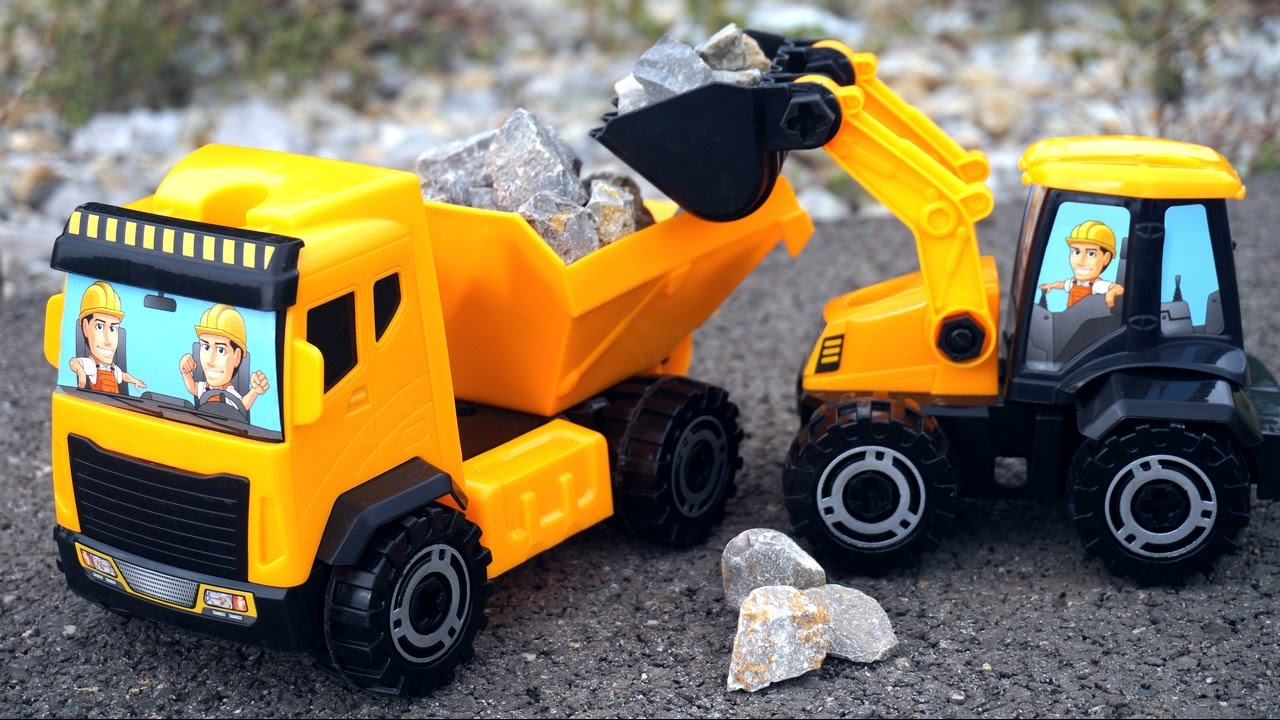 Toy Truck Videos For Children Tractors For Children Game