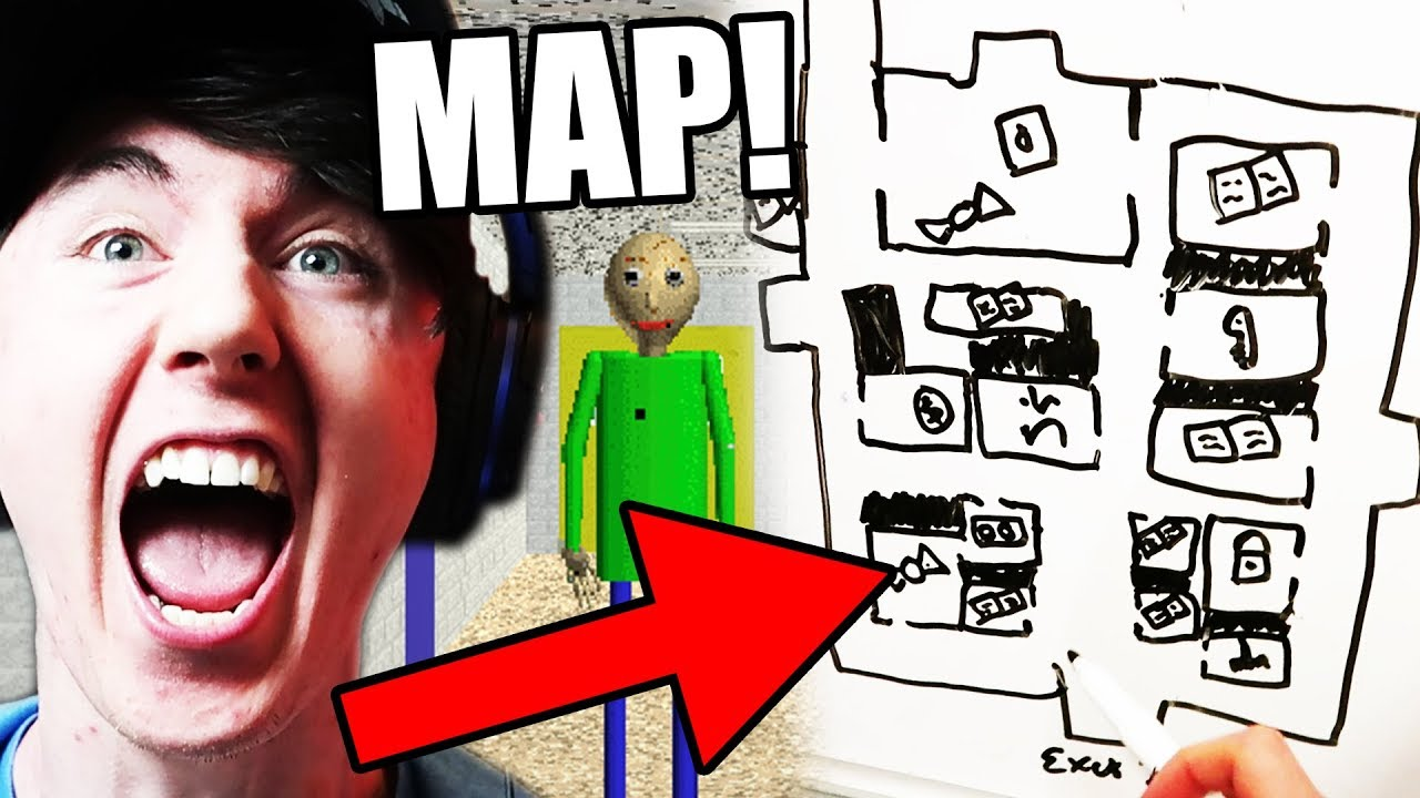 We Have A Map Get Me Out Baldi S Basics In