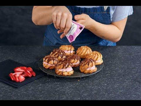 petits-choux-aux-fraises---recette-de-betty-bossi