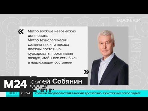 Власти Москвы не будут закрывать метро из-за коронавируса - Москва 24