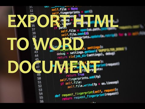 Convert HTML To Word | Source Code