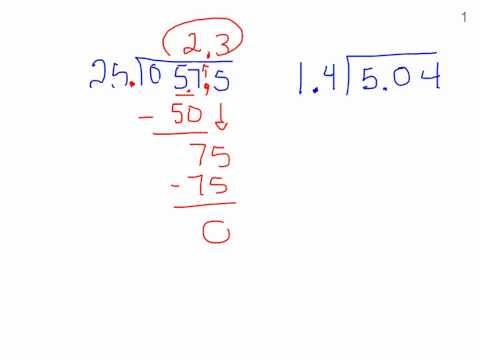 6th grade dividing by a decimal