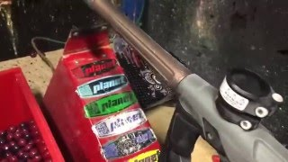 shooting a frozen gtek paintball gun at 20 celsius 4 fahrenheit