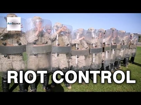 Marines Conduct Riot Control Formations Exercise