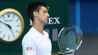 Novak Djokovic final training day - Australian Open 2015